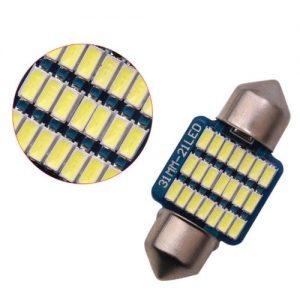 BÓNG LED TRẦN Ô TÔ , XE HƠI 3014-31MM 21 LED