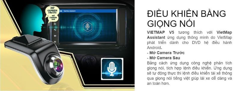 CAMERA HÀNH TRÌNH VIETMAP V5 KẾT NỐI DVD ANDROID