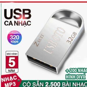 USB 32G PHÁT NHẠC CHẤT LƯỢNG CAO 2400 BÀI NHẠC MP3 (320kbps)+200 VIDEO DIVX CHO XE Ô TÔ