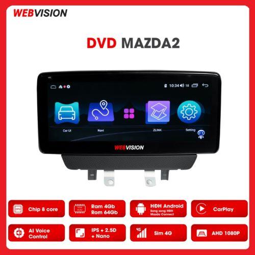 MÀN HÌNH DVD WEBVISION MAZDA 2 CAO CẤP