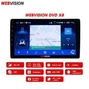 MÀN HÌNH DVD ANDROID WEBVISION X8 DÙNG CHO XE Ô TÔ