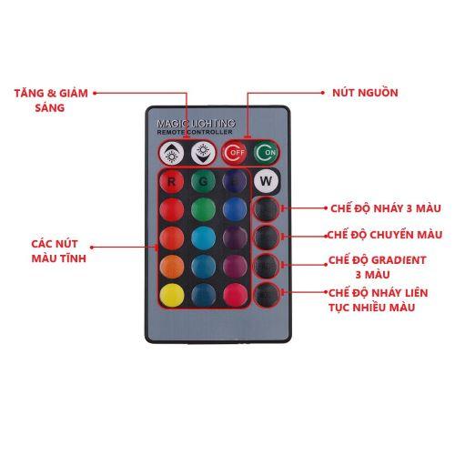 BỘ 02 BÓNG ĐÈN LED TRẦN Ô TÔ T10 CÓ REMOTE ĐIỀU KHIỂN RGB 12 SMD 5050
