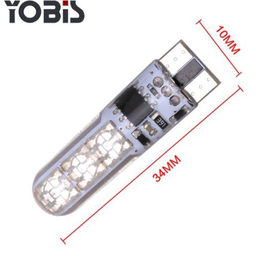 BỘ 02 BÓNG ĐÈN LED TRẦN Ô TÔ T10 CÓ REMOTE ĐIỀU KHIỂN RGB 6 SMD 5050
